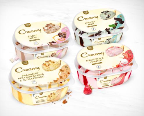 Ingman Creamy jäätelöiden mockup-kuvat